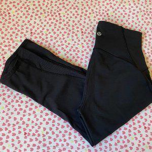 "Lululemon black running crop legging 17"" size 4"